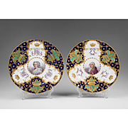 Pair of 1787 Sevres Cabinet Plates