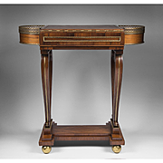 Regency Mahogany Rosewood Work and Gaming Table