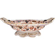 Early 19th C. Josiah Spode Imari Inspired Compote With Handles