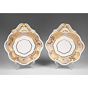 Pair of Regency Period Josiah Spode Shell Shaped Side Dishes
