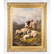 Oil On Canvas Depicting Highland Sheep By William Peter Watson