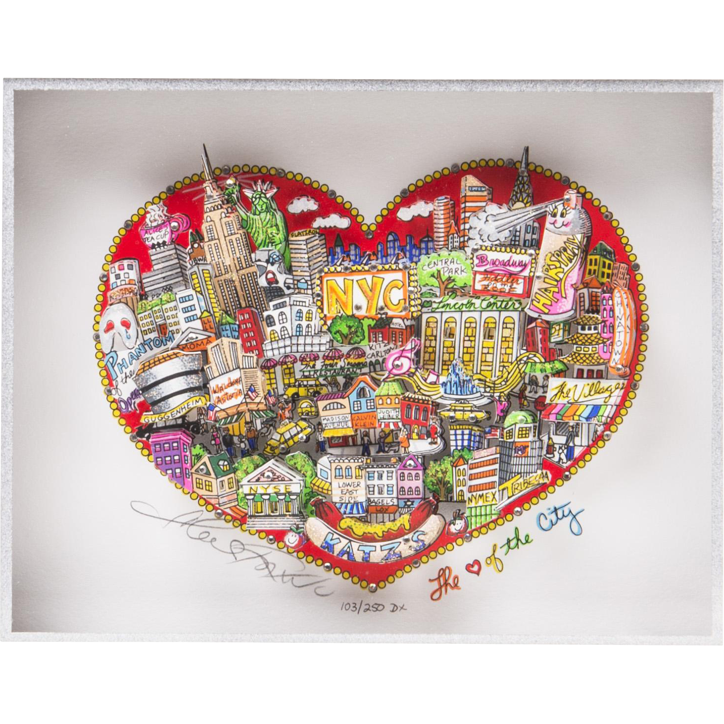 Original Pop Art Serigraph By Charles Fazzino, My Love Of The City