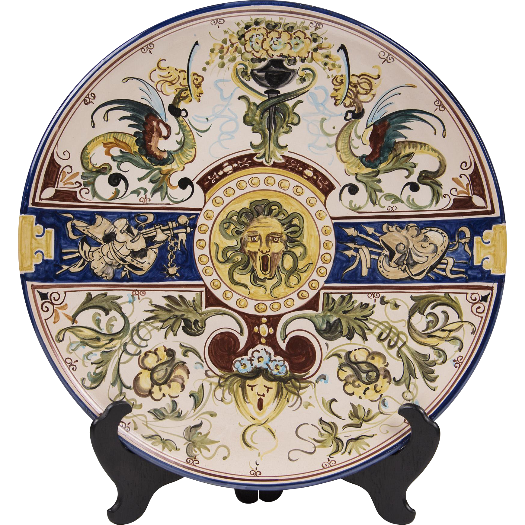 Large Deruta Handpainted L'Antica Wall Charger