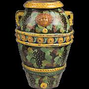 Large Italian Terra-cotta Tin Glazed Cistern Or Urn