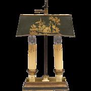 Vintage Italian Stenciled Tole Bouillotte Lamp