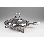 1856 Sheffield Silver Plate Entrée Serving Dish With Handle