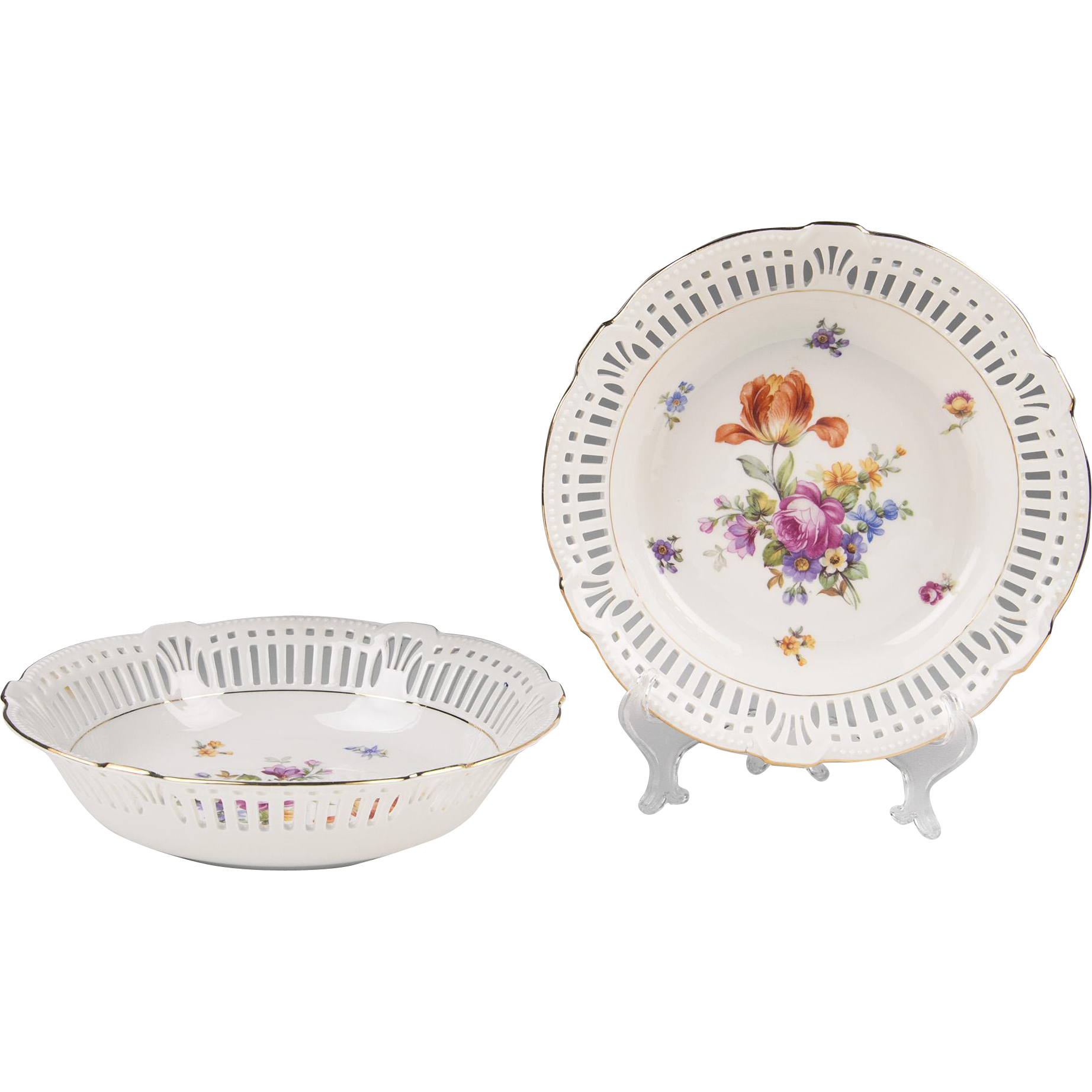 Pair of Schumann & Schreider Porcelain Serving Bowls