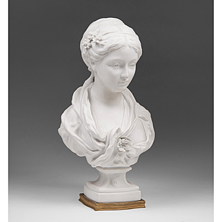 French Sevres Biscuit Bust