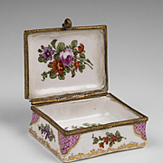 19th C. French Enamel Hand Painted Snuff Box