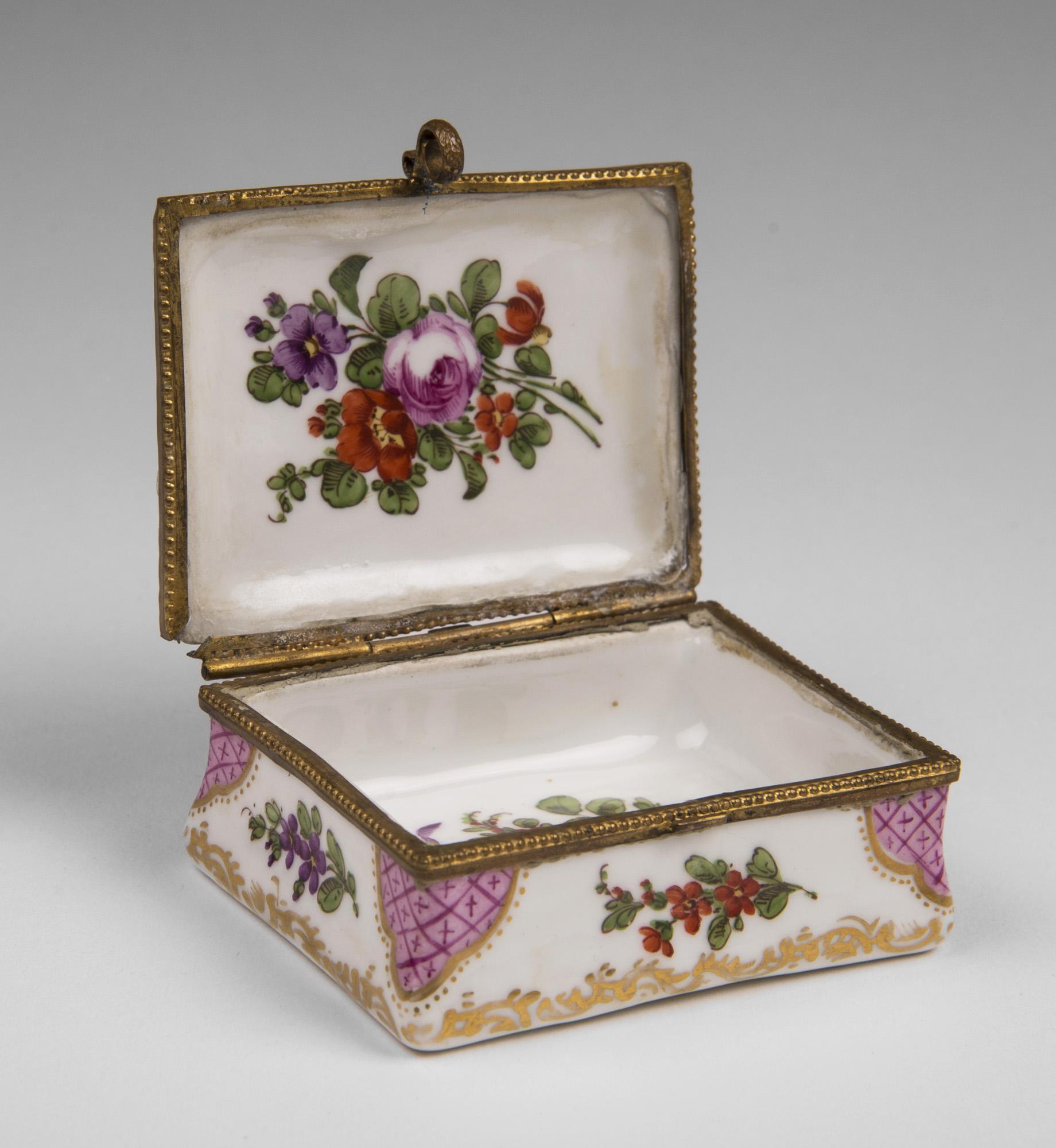 19th C. French Enamel Hand Painted Snuff Box