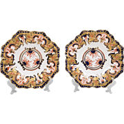Pair of Royal Crown Derby Imari Shallow Bowls, 1893