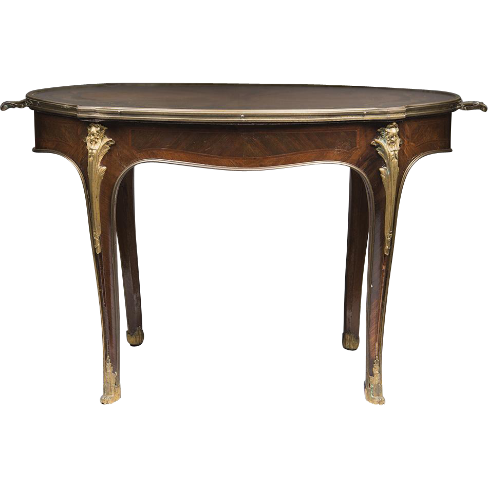 Louis XV French Oval Coffee Table