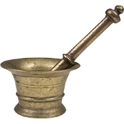 English Georgian Bronze Mortar and Pestle
