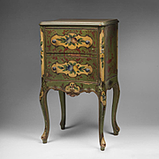 Petite 19th C. Italian Hand Painted Commode
