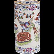 Mason's Birds Of Paradise Cylindrical Vase