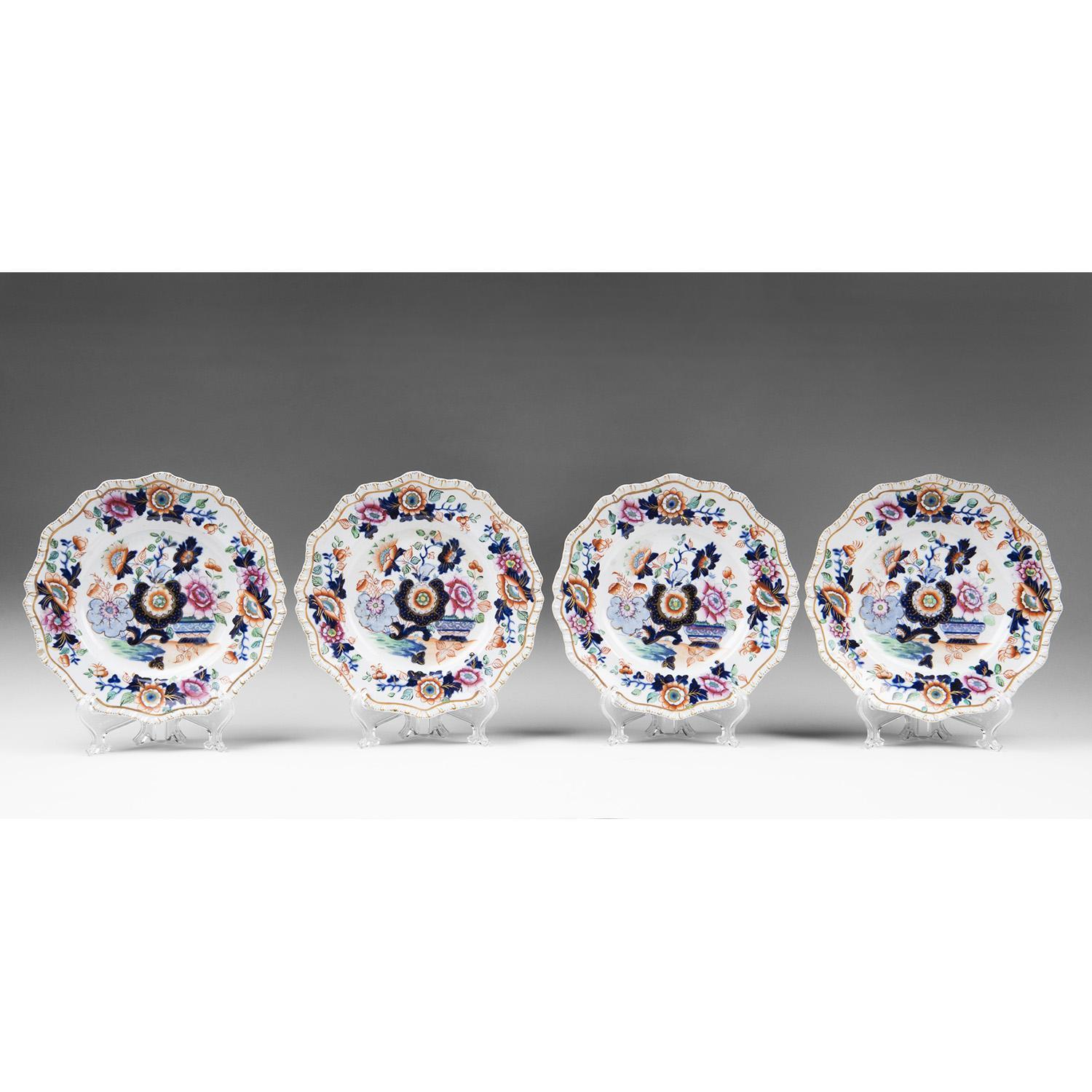 Set of Four Hicks & Meigh 1825 Cake Plates