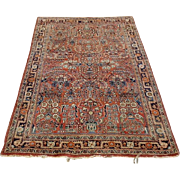 Semi Antique Persian Area Rug, Sarouk.