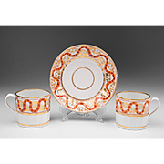 19th C. English Worcester Cups & Saucer