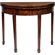 Georgian Hepplewhite Figured Mahogany Card Table