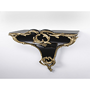 Louis XV Style Porcelain Wall Bracket Mounted In Bronze