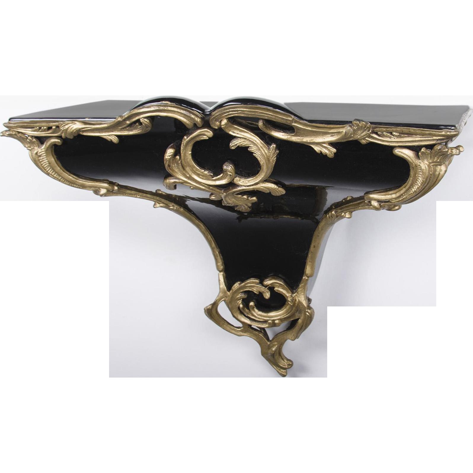 Louis XV Style Porcelain Wall Bracket Mounted In Bronze