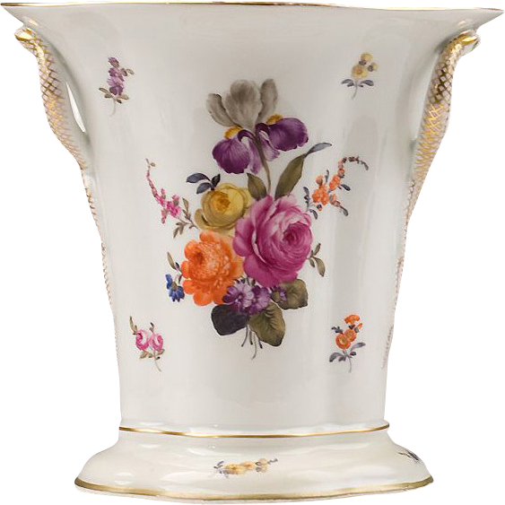 Volkstedt Ackermann & Fritze Snake Handle Vase