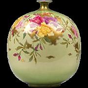 Large Pumpkin Shaped Royal Bonn Vase