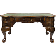 Leather Top Georgian Burr Walnut English Desk