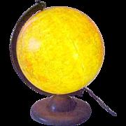 Replogle 12 Inch Lighted Desktop Globe ca 1950 Brueckmann
