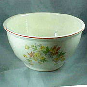 Homer Laughlin Virginia Rose Large Mixing Bowl Floral Decor