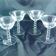 Imperial Glass Candlewick Champagne Tall Sherbert  Stem 3400 Set of 4