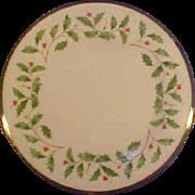 "Lenox USA Holiday Holly Dinner Plates 10.5"" MT-NM Many Avail"