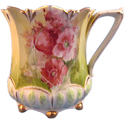 R.S. Prussia Shaving Mug, Poppies, circa 1910