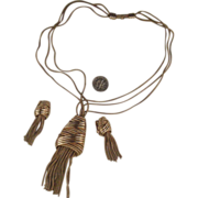 "KRAMER Tassel Demi-Parure:  Necklace & Earrings: ""Mad Men""-worthy!"