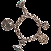 Chunky Vintage Asian-Oriental Figurals Charm Bracelet