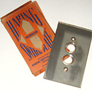 Art Deco Mirrored Switch Plate: In Orig. Box: Haring Switch Plate Co.
