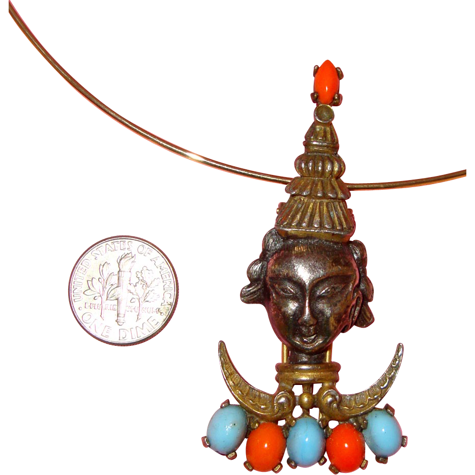 Siamese Lady Face Fur Clip or Pendant:  Asian - Oriental Style