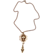 Thai Princess Lady Face Pendant Necklace:  Asian - Oriental Style