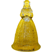 Signed LG Clear Glass Bride Bell: Southern Belle