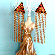 "Daring D'Orlan Geometric Shoulder-Duster Earrings: 4 1/2"" Long!"