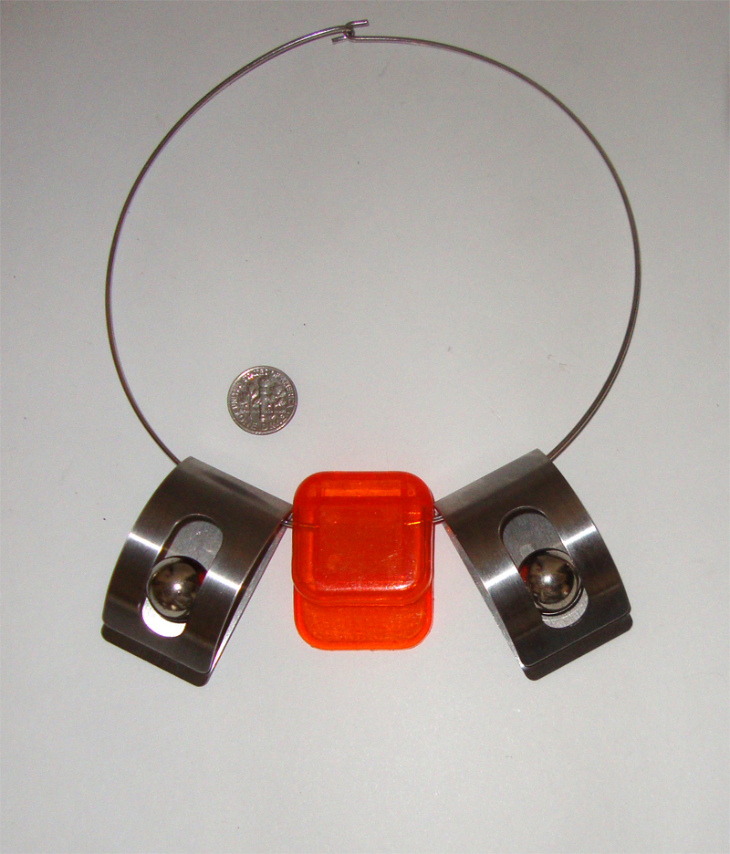 Artsy Modernist Necklace:  Machine Age-Style Chic