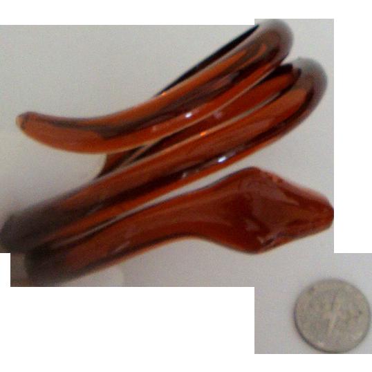 Rootbeer Plastic Snake Bracelet: New/Old Stock: Fits Larger Wrist