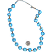 Pretty Rivoli Clear-Glass Necklace