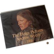 "Pristine 1988 Andrew Wyeth ""The Helga Pictures"" Calendar: In Plastic"