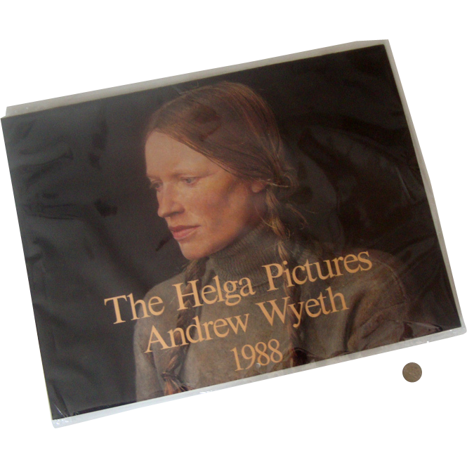 """Pristine 1988 Andrew Wyeth """"The Helga Pictures"""" Calendar: In Plastic"""