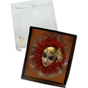 Big Brinn's Lady Face Brooch: Blonde Beauty: Mint in Box