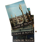 Big 1950s-60s Italian Travel Books: Milan, Rome, Tigullio Coast
