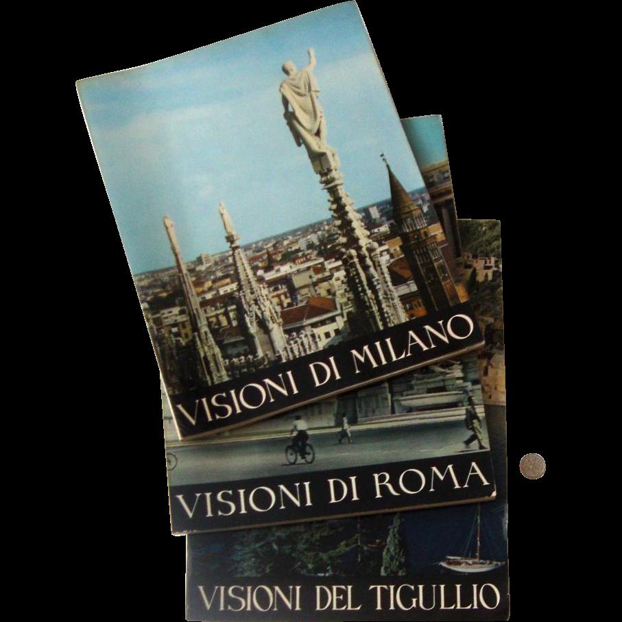 Big 1950s-60s Italian Travel Books: Milan, Rome, Tigullio Coast
