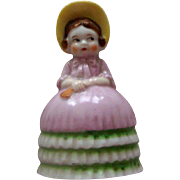 Dainty Porcelain Lady Bell: Made in Japan
