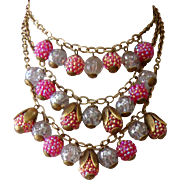Gorgeous Glass & Aurora-Borealis Bib Necklace: Lenora Dame: Old/New Stock